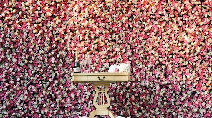 backdrop parete di fiori sfondo matrimonio