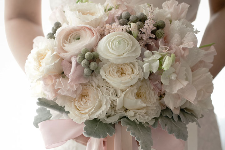 bouquet bondu stylemepretty