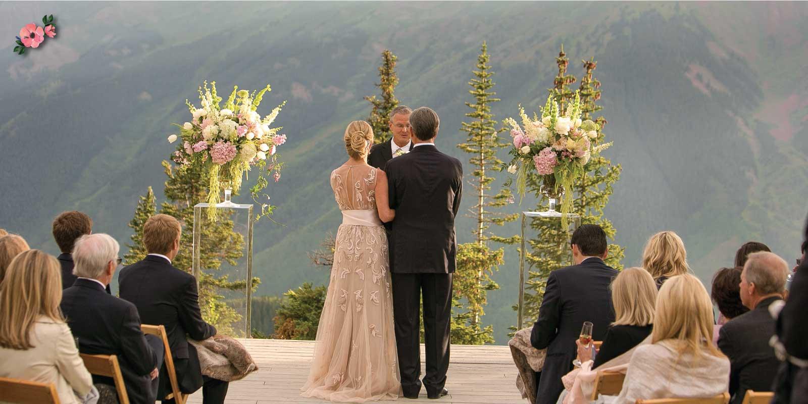 Secondo matrimonio: cerimonia all'aperto