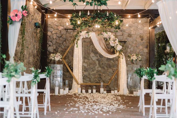 Tendenze Matrimonio 2020 | Allestimento cerimonia con arco esagonale