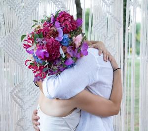 Copricapo floreale per la sposa