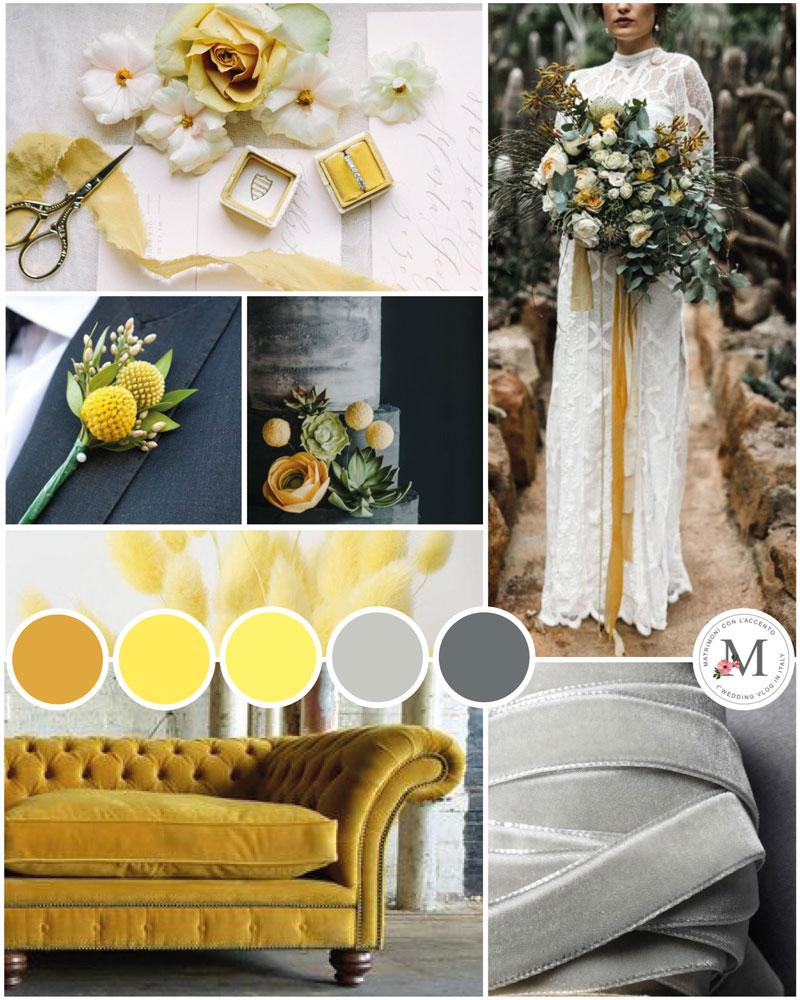 Inspiration Mood Board con i colori dell'anno 2021 creata da Roberta Patanè