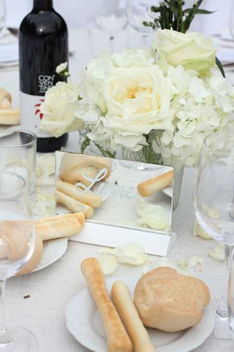 Nome tavolo scritto su specchio - Roberta Patanè