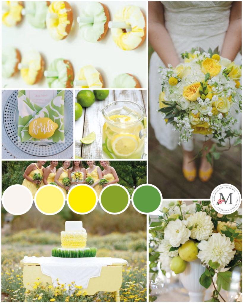 Palette per matrimonio allegro giallo limone e verde lime © Roberta Patanè Weddings
