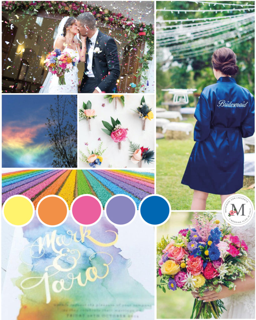 Palette per matrimonio multicolore © Roberta Patanè