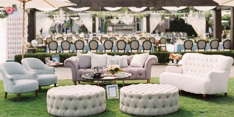Ricevimento perfetto con la zona lounge
